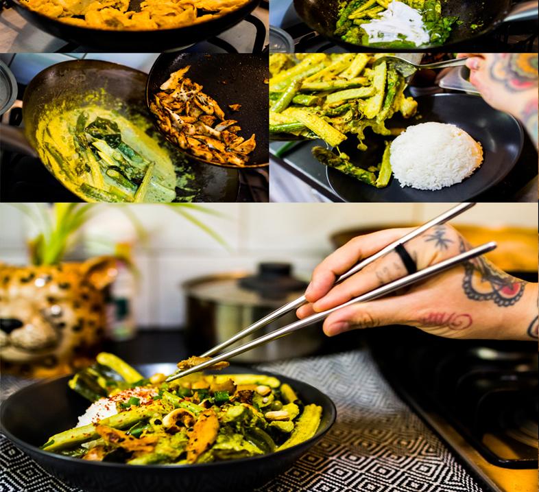 Wegańskie zielone curry z GoPlant Zamiast Kurczaka